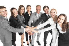 Business people joined hands Royalty Free Stock Images
