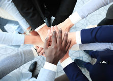 Business people joining hands Royalty Free Stock Image