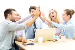 Business people joining hands Royalty Free Stock Photography