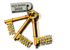 Business People and the Keys to Success Royalty Free Stock Image