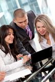 Business people on a laptop Stock Photography