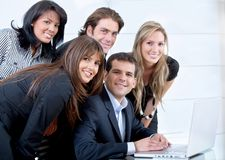 Business people on a laptop Royalty Free Stock Photo