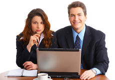 Business people with laptop Stock Image