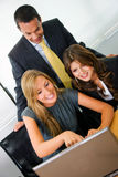 Business people on a laptop Stock Photos