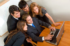 Business people on a laptop Stock Photo