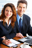 Business people with laptop Royalty Free Stock Images