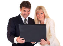Business people with laptop Stock Photography