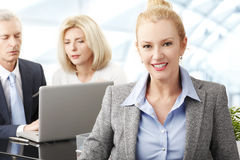 Business people with laptop Royalty Free Stock Photography