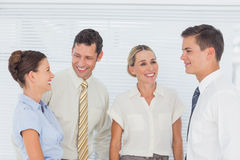 Business people laughing together Royalty Free Stock Image
