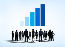 Business People Learning Financial Infographic Stock Image