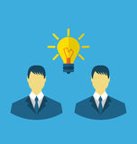 Business people with light bulbs as a concept of new ideas Royalty Free Stock Image