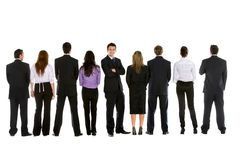 Business people in line Stock Image