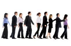 Business people in line Stock Images