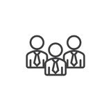 Business people line icon Royalty Free Stock Photos