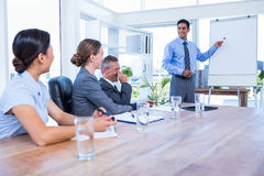 Business people listening during a meeting Royalty Free Stock Images