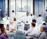 Business People Listening to a Business Presentation Royalty Free Stock Images