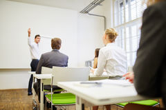 Business people listening to a lecture. In a consulting seminar Royalty Free Stock Image