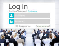 Business People LogIn Security Protection Seminar Concept Stock Image