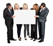 Business people looking at blank board Stock Images