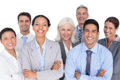 Business people looking at camera with arms crossed Royalty Free Stock Photos
