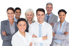 Business people looking at camera with arms crossed Stock Photos