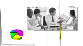 Business people looking at charts Royalty Free Stock Photo