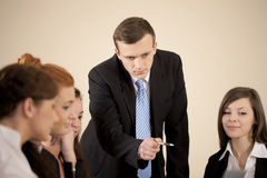 Business people looking at the computer Royalty Free Stock Photo