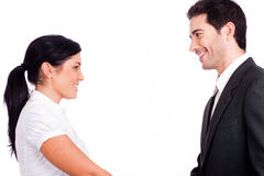 Business People Looking Each Other Stock Images