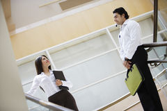 Business People Looking At Each Other Royalty Free Stock Image