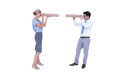Business people looking at each other Royalty Free Stock Images