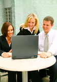 Business People Looking At Laptop Royalty Free Stock Photo