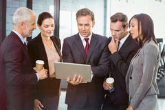 Business people looking at laptop Royalty Free Stock Images