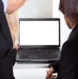 Business people looking at the monitor screen Royalty Free Stock Image