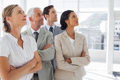 Business people looking at the same way Stock Images