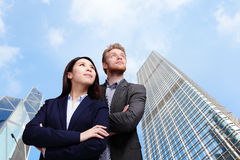 Business people looking to the future Royalty Free Stock Photo