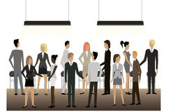 Business people. A lot of people at a business meeting royalty free illustration
