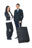Business people with luggage Royalty Free Stock Image