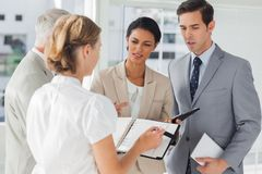 Business people making an appointment Royalty Free Stock Images