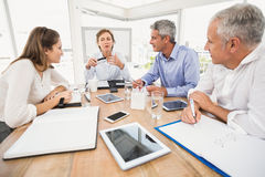 Business people making arrangements Royalty Free Stock Image