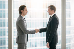 Business people making deal royalty free stock image