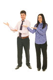 Business people making presentation Stock Photo