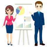 Business People Making Presentation Royalty Free Stock Photos