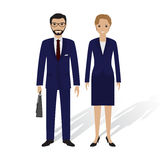 Business people male and female. Office employees man and woman standing together. Business teamwork concept. Stock Images