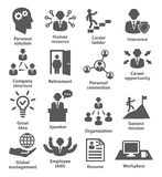 Business people management icons Royalty Free Stock Photo