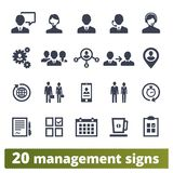 Business People, Management And Teamwork Icons vector illustration