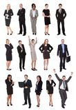 Business people, managers, executives. Isolated on white background royalty free stock image
