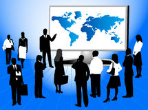 Business people and map. Illustration of business people and map Stock Photography