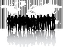 Business people and map Royalty Free Stock Images