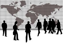 Business people and map Royalty Free Stock Photography