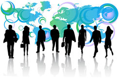 Business people and map Stock Images